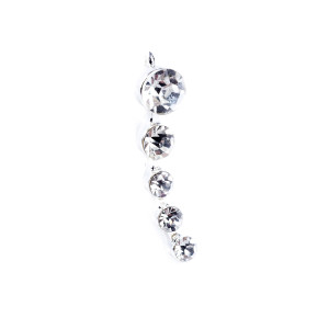 crystal ear pin