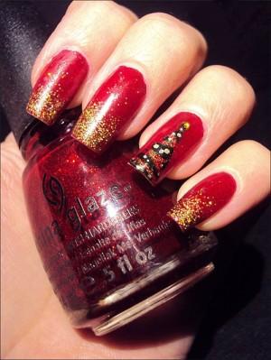 christmas nail art 01