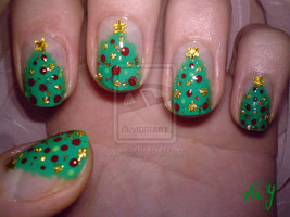 christmas nail art 04